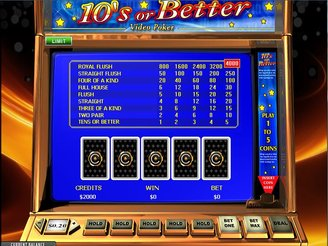 Play 10's or Better Video Poker Online