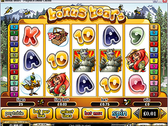 Machines à Sous Bonus Bears | Casino.com France