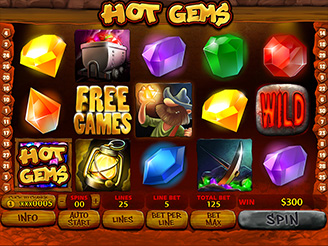 Play Hot Gems Online Pokies at Casino.com Australia
