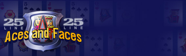 25 Line Aces and Faces Online Videopoker