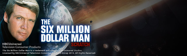 Play The Six Million Dollar Man Scratch Online at Casino.com NZ