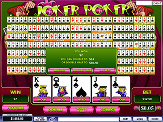 online casino video poker jokers online