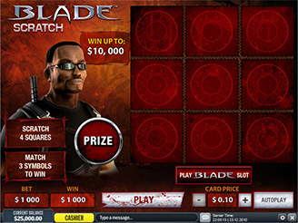 Play Gladiator Scratch Online at Casino.com NZ