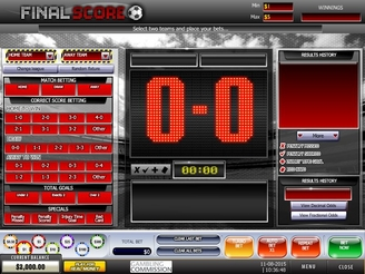 Play Final Score Arcade Game at Casino.com UK
