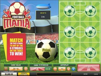 Football Scratch Card - Play for Free Instantly Online