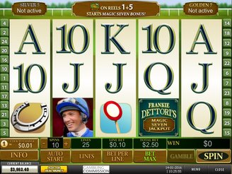 Play Frankie Dettori Magic 7 Jackpot at Casino.com Canada