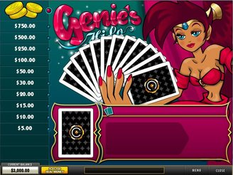 Play Genie's Hi Lo Jackpot Arcade Game Online at Casino.com Canada