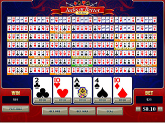 Play 50-Line Jacks or Better Video Poker at Casino.com South Africa