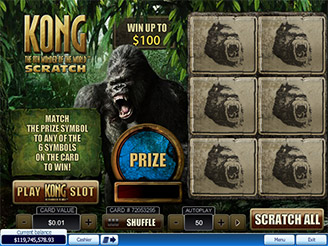 Play Kong Scratch Cards at Casino.com