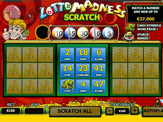 Play Lotto Madness Scratch Cards at Casino.com