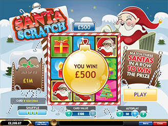 Play Santa Scratch Online at Casino.com Canada