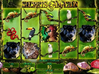 Play Secrets of the Amazon online slots at Casino.com