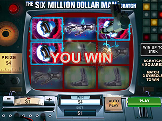 Play The Six Million Dollar Man Scratch Cards at Casino.com