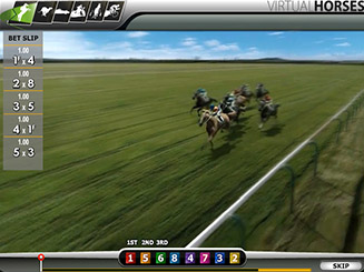 Play Virtual Horses arcade game at Casino.com Australia